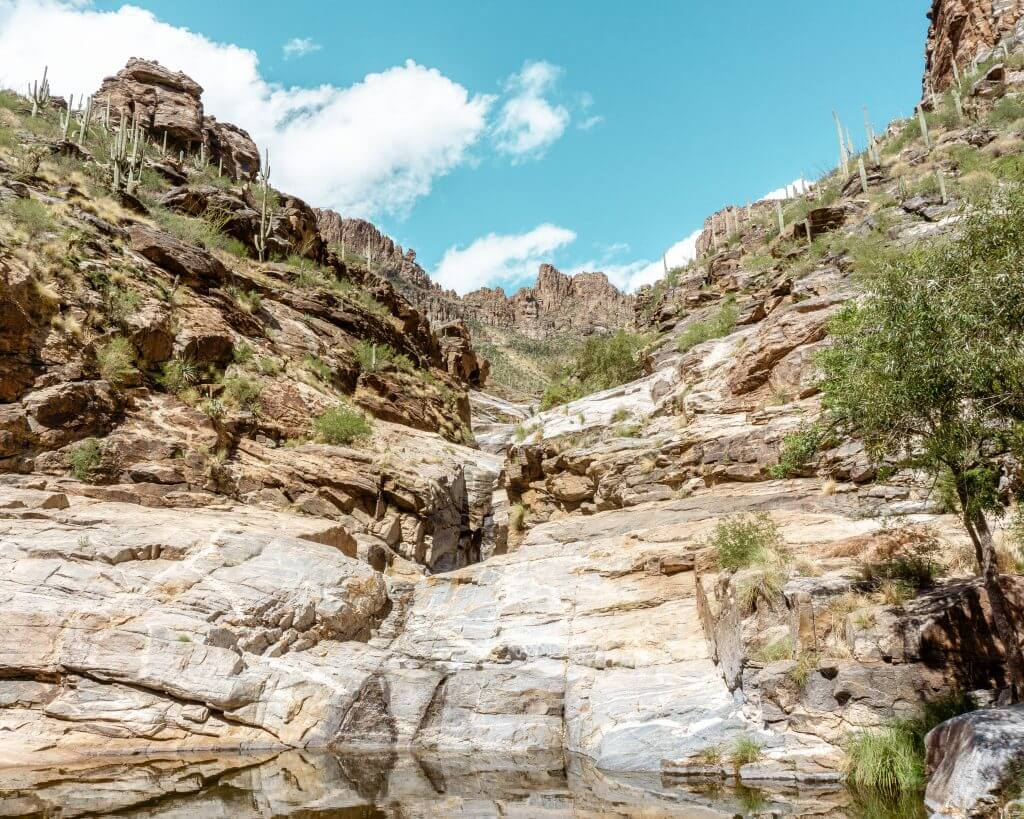 Seven Falls Tucson is a great hike if you want to see waterfalls in Arizona