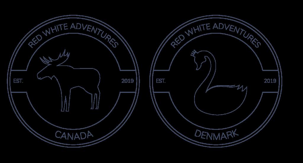 Red White Adventures logo.