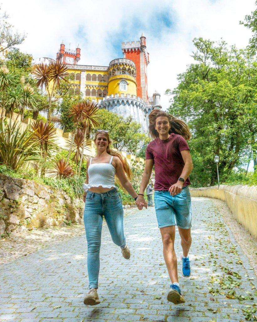 Dom and Jo exploring Pena Palace!