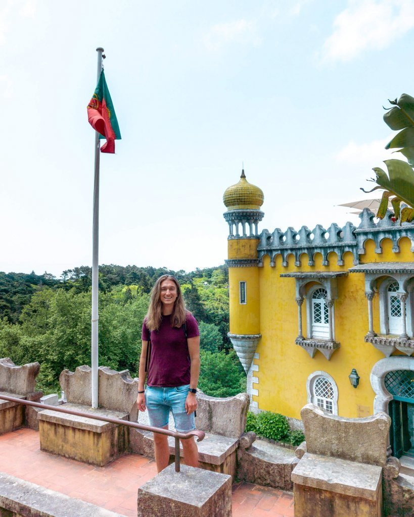 Dom enjoying the views of Pena Palace on his day trip!