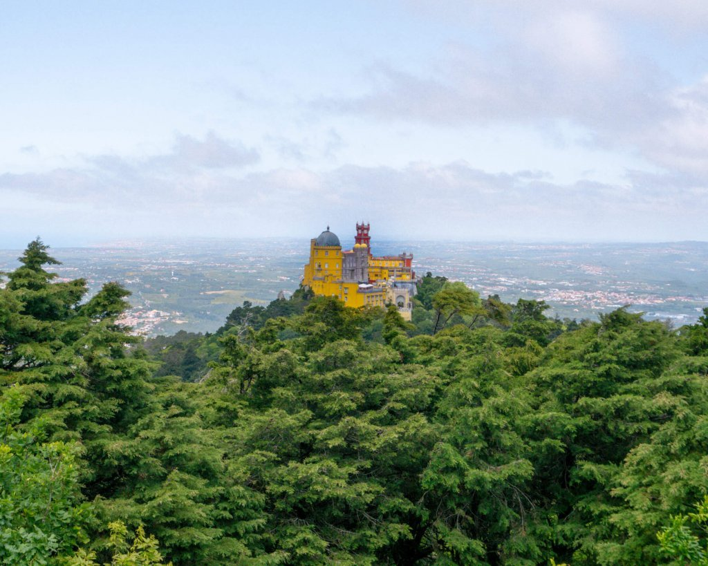 Gorgeous Pena Palace above all the trees.