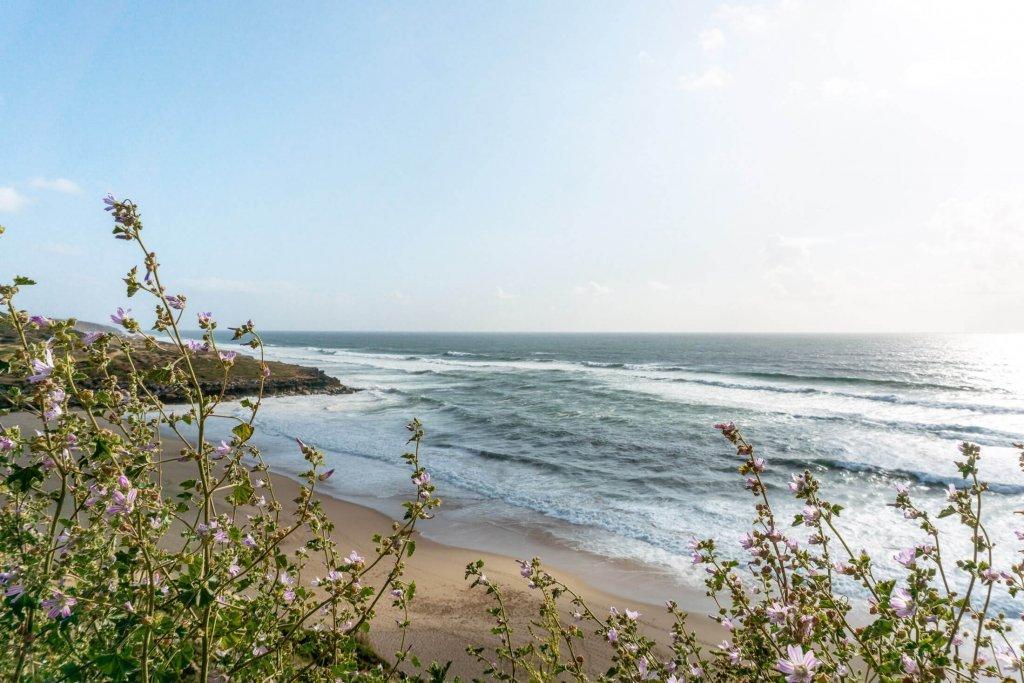 Portuguese coastline in Ericeira, Portugal.