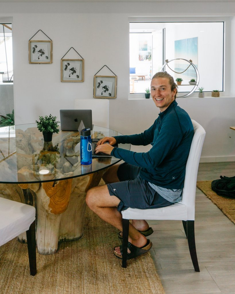 Dom coworking at the new cowork space in Ericeira.