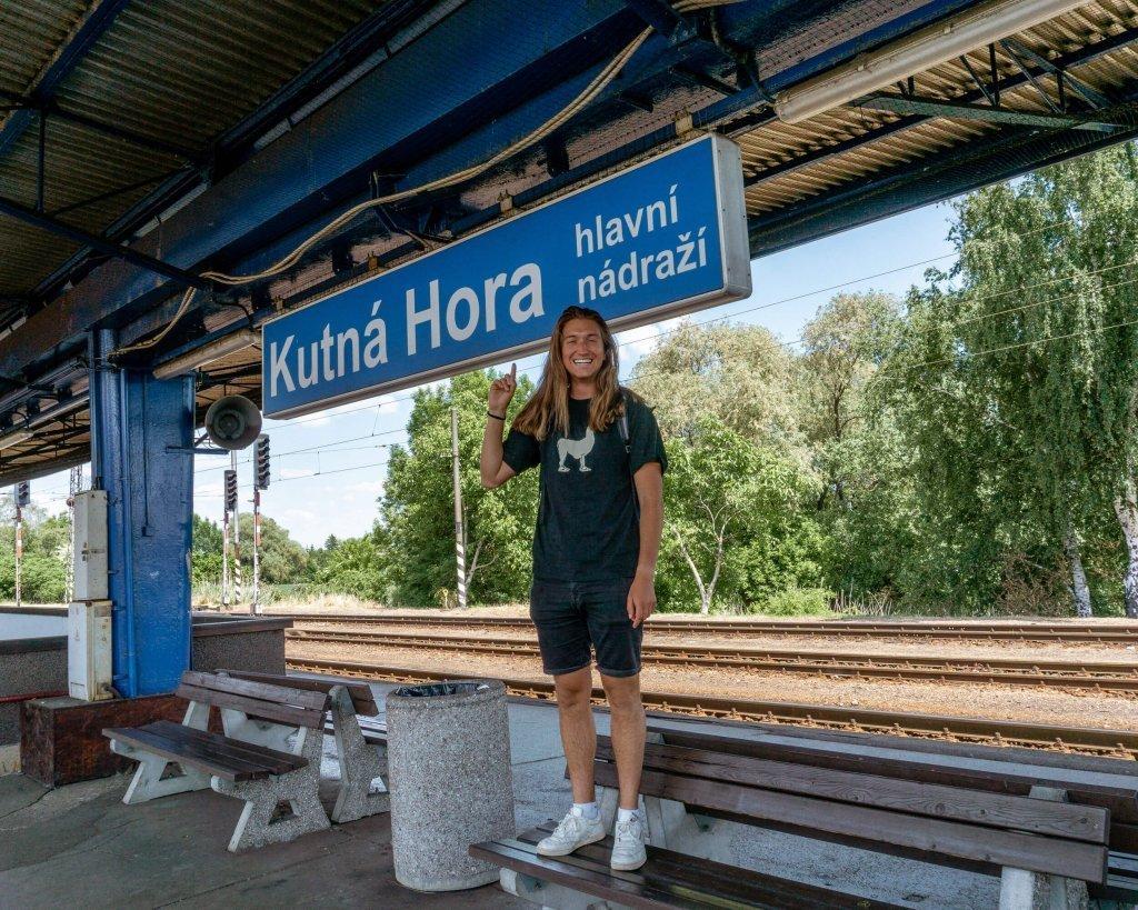 Main train station in Kutna Hora.