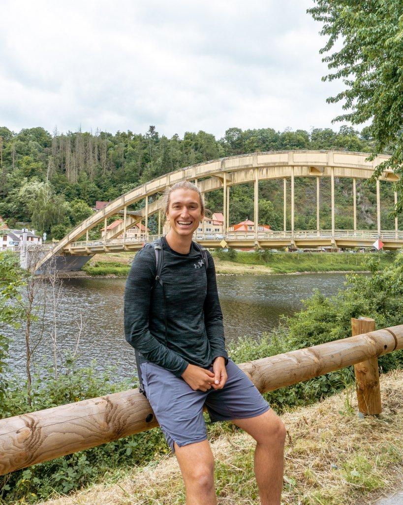 Stechovice Bridge in the Czech Republic.