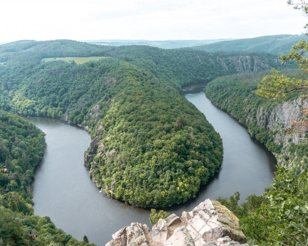 Amazing view of Vyhlidka Maj near Prague.